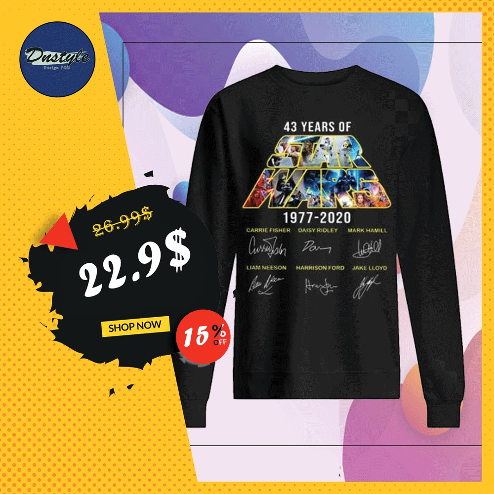 43 years of Star Wars 1977 2020 character signatures sweater