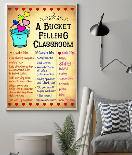 A bucket filling classroom poster
