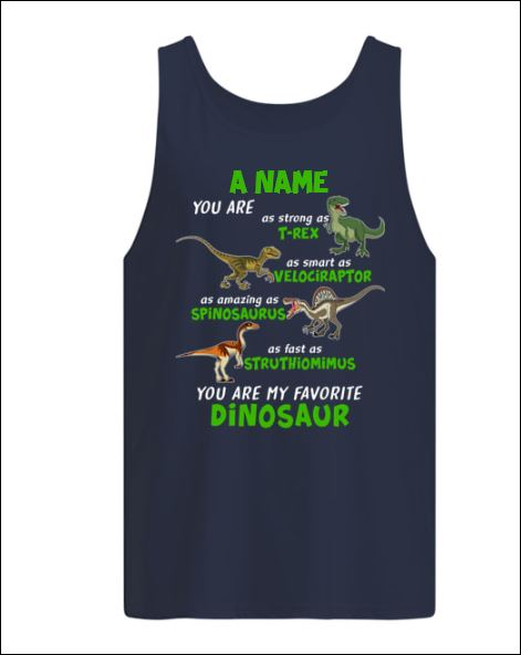 A name you are as strong as T Rex as smart as Velociraptor tank top