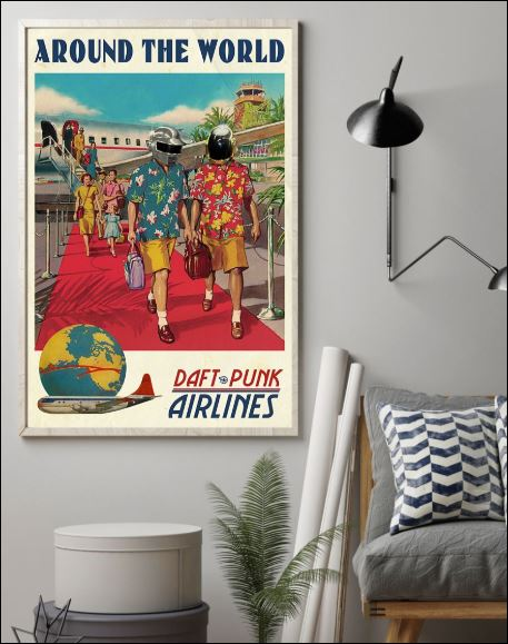 Around the world daft punk airlines poster