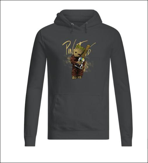 Baby Groot hug Pink Floyd guitar hoodie