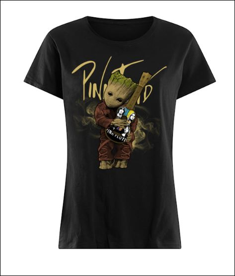 Baby Groot hug Pink Floyd guitar shirt