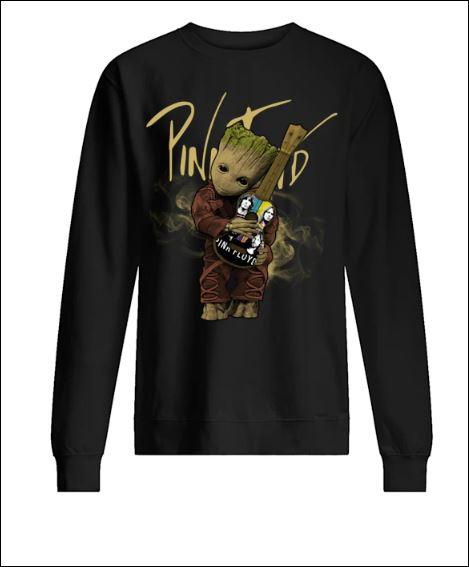 Baby Groot hug Pink Floyd guitar sweater