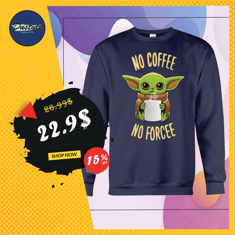 Baby Yoda no coffee no forcee sweater
