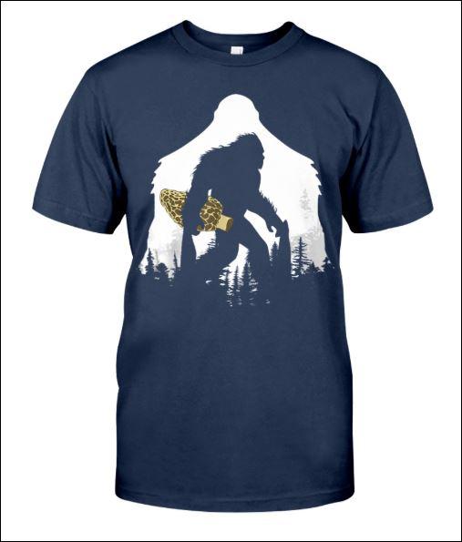 Bigfoot with morel mushroom shirt