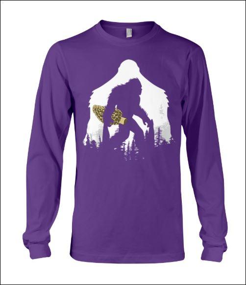 Bigfoot with morel mushroom sweater