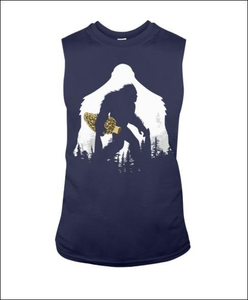 Bigfoot with morel mushroom tank top