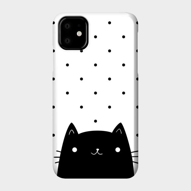 Black cat Phone Case iphone 11 pro max