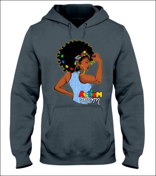 Black women autism mom hoodie