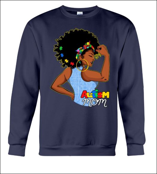 Black women autism mom sweater