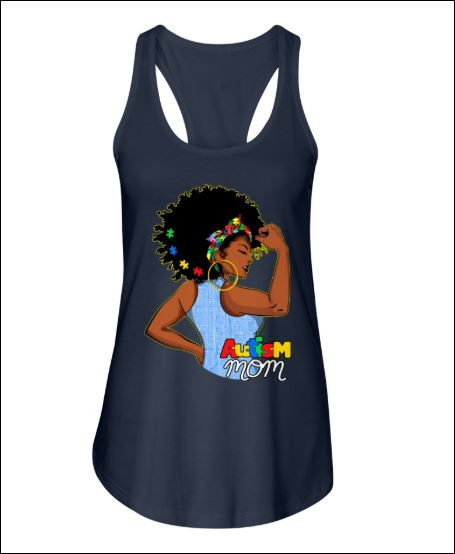 Black women autism mom tank top