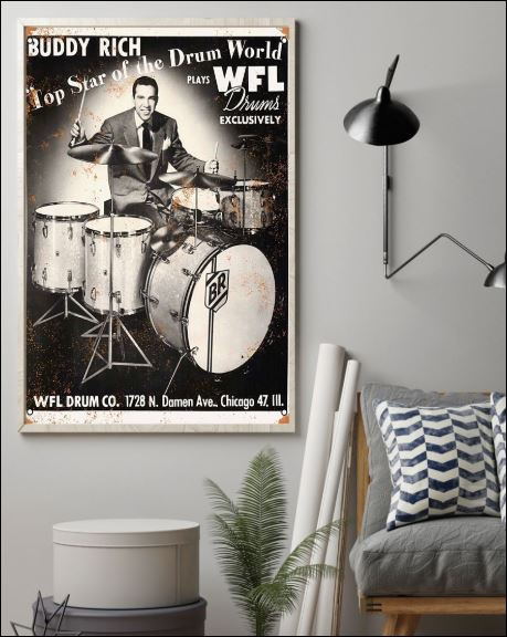 Toporder Bubby Rich top star of the drum world poster