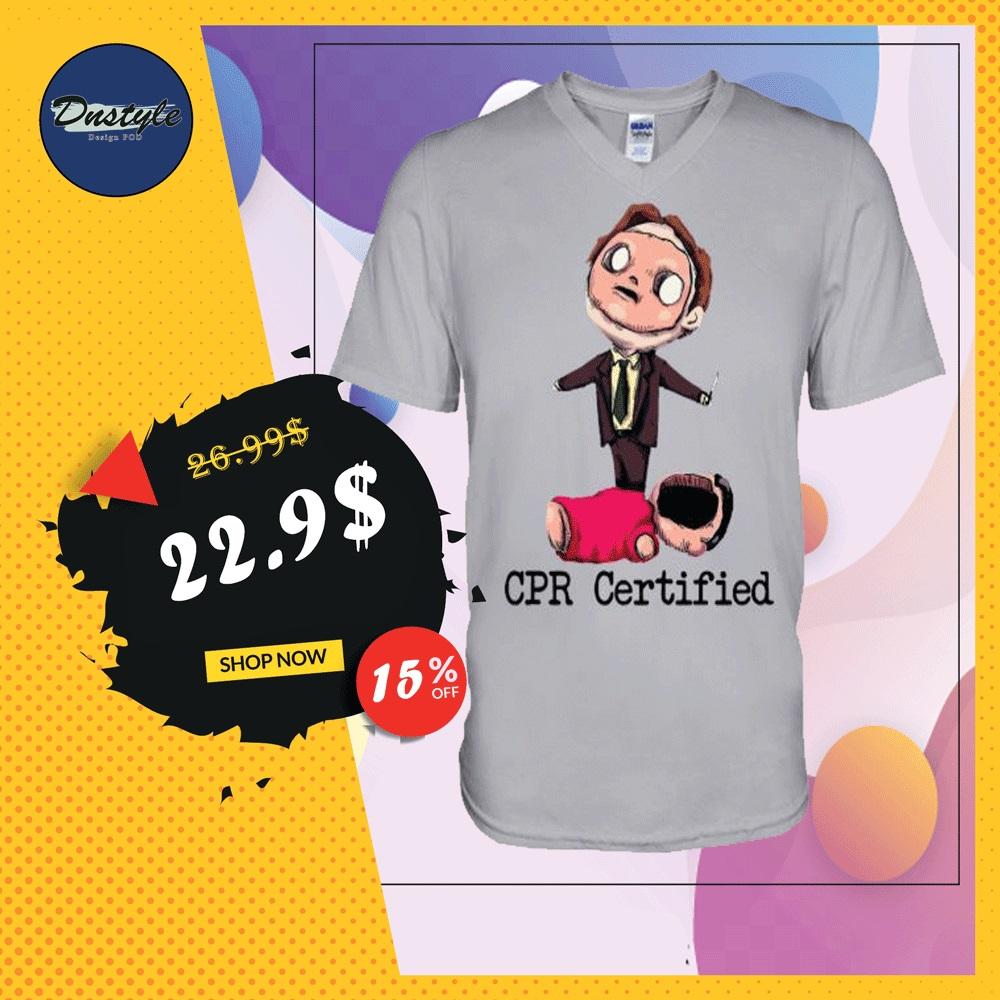 CPR certified v-neck shirt