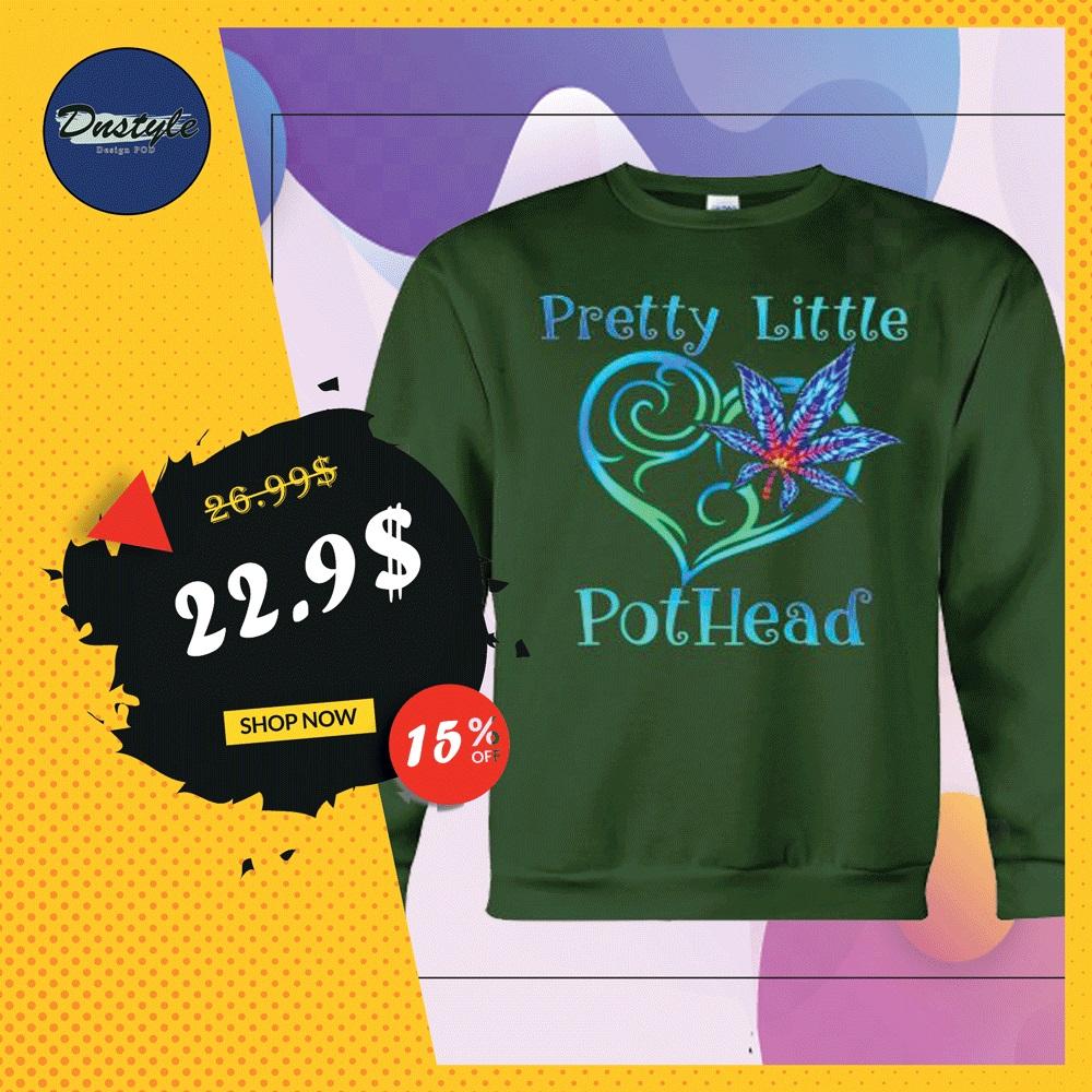 Cannabis pretty little pothead heart sweater
