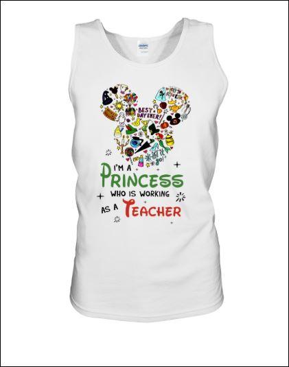 Disney i'm a princess who is working as a teacher tank top