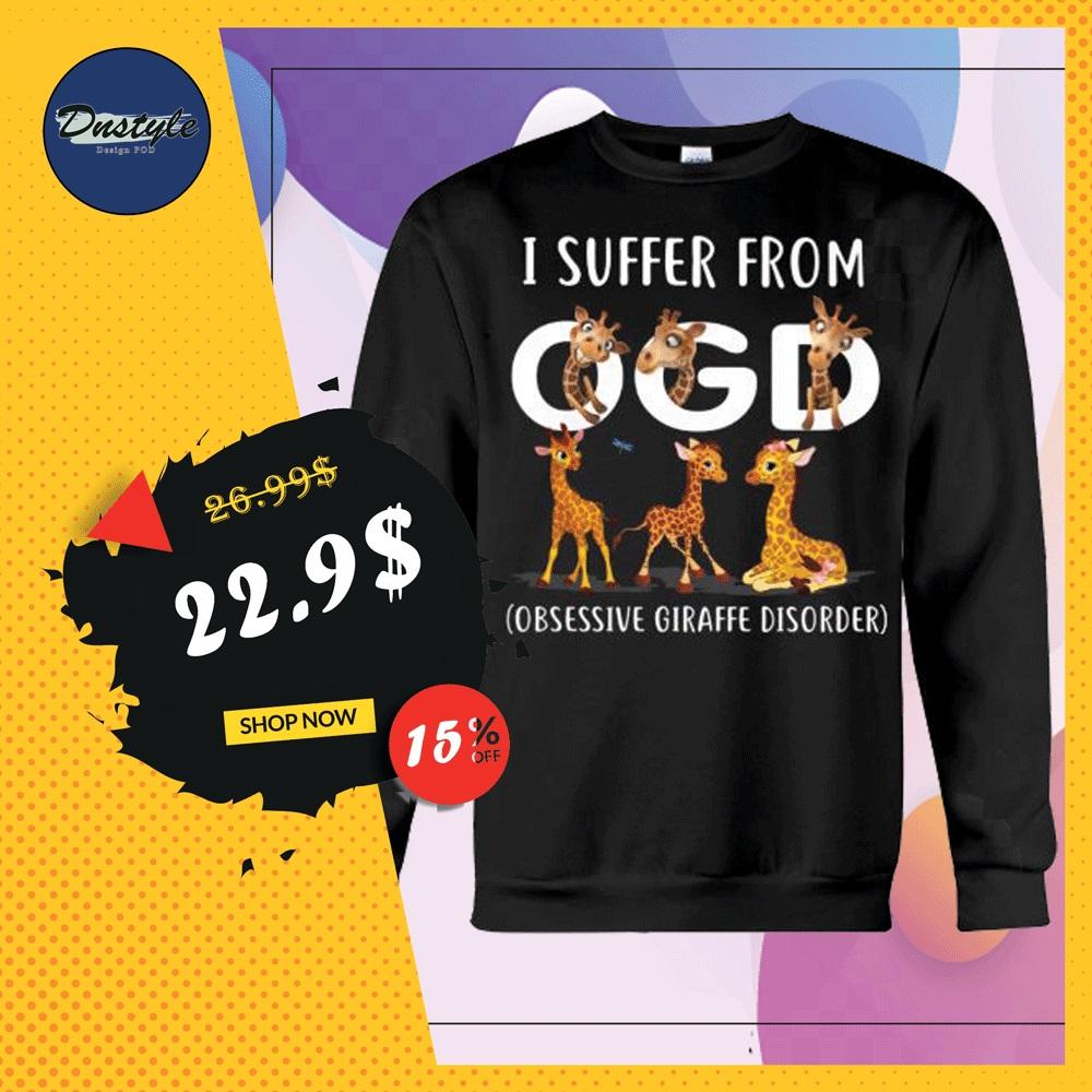 Giraffe i suffer from OGD obsessive giraffe disorder sweater