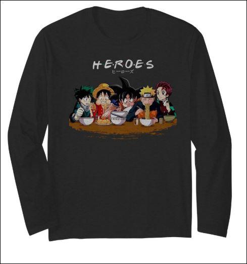 Heroes Izuku Midoriya Luffy Songoku Naruto Tanjiro Friend TV Show long sleeved