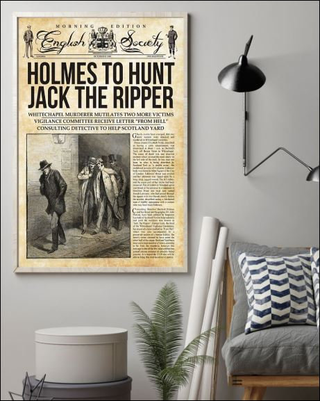 Holmes to hunt jack the ripper poster