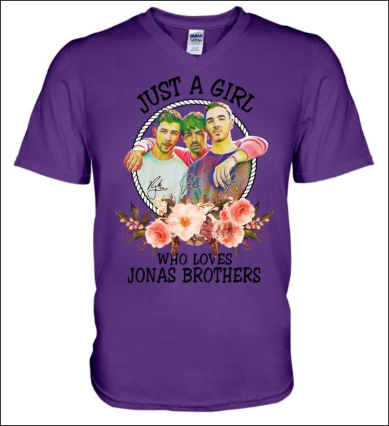 Just a girl who love Jonas Brothers v-neck shirt