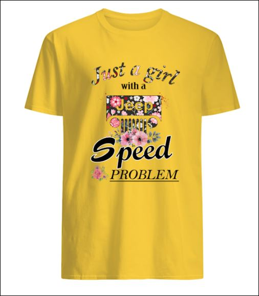 Just girl with a Jeep speed problem v-neck shirt