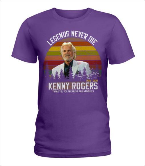 Kenny Rogers legends never die 1938 2020 signature vintage v-neck shirt