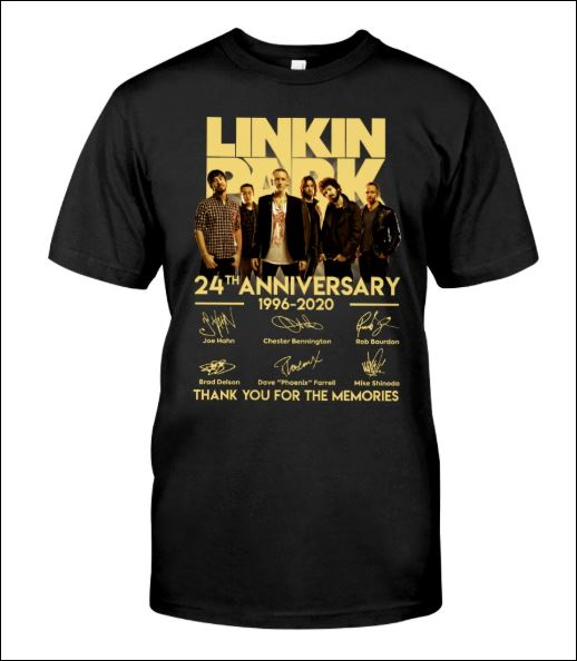 Linkin Park 24th anniversary 1996 2020 signatures shirt