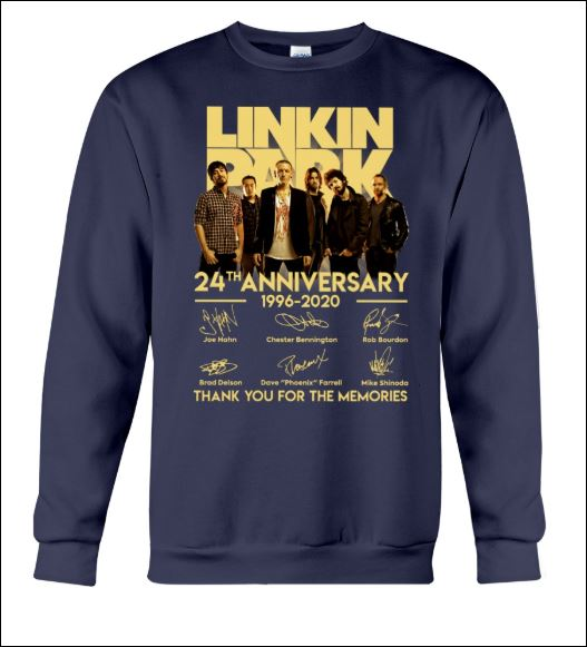Linkin Park 24th anniversary 1996 2020 signatures sweater