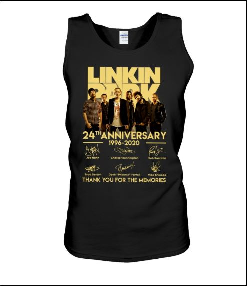 Linkin Park 24th anniversary 1996 2020 signatures tank top