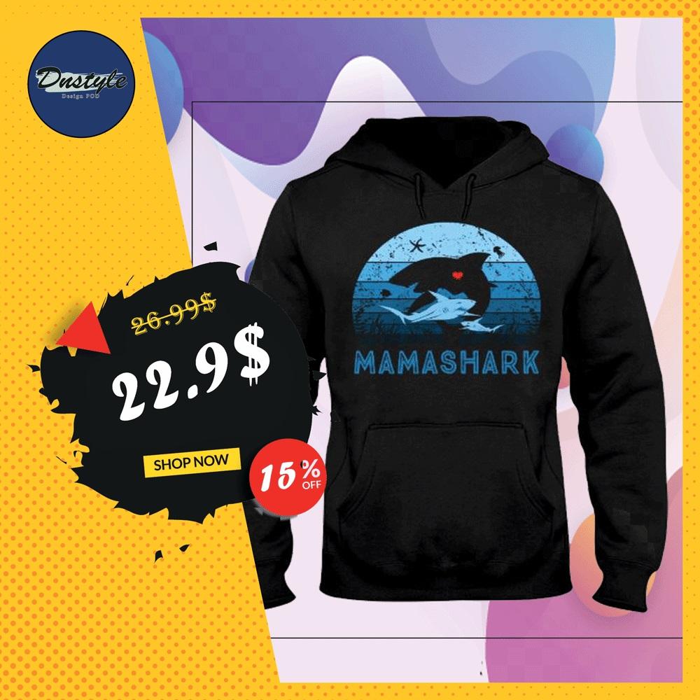 Mama shark vintage hoodie