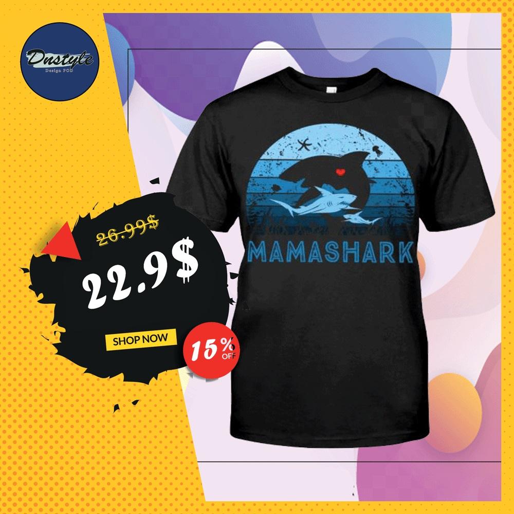 Mama shark vintage shirt
