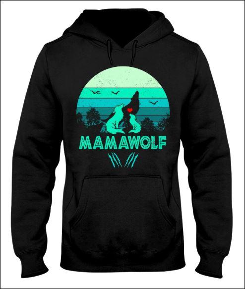 Mama wolf vintage hoodie