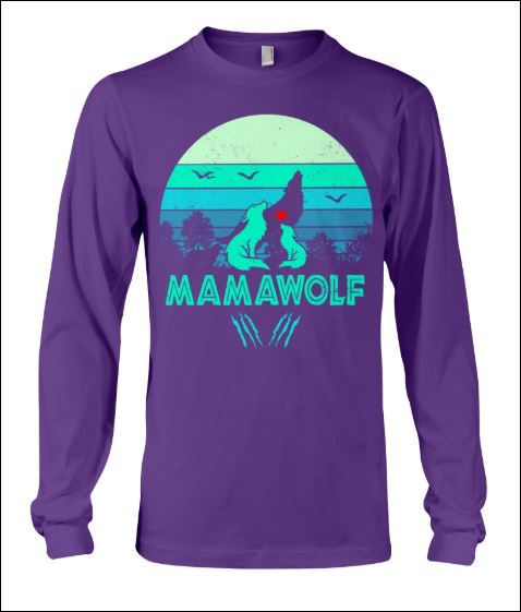 Mama wolf vintage long sleeved
