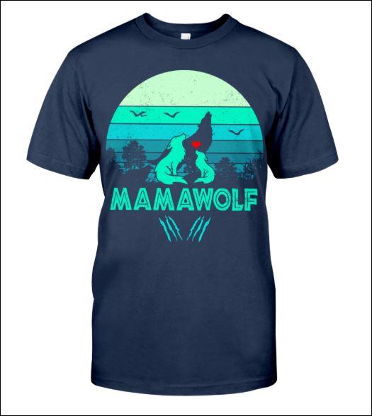 Mama wolf vintage shirt
