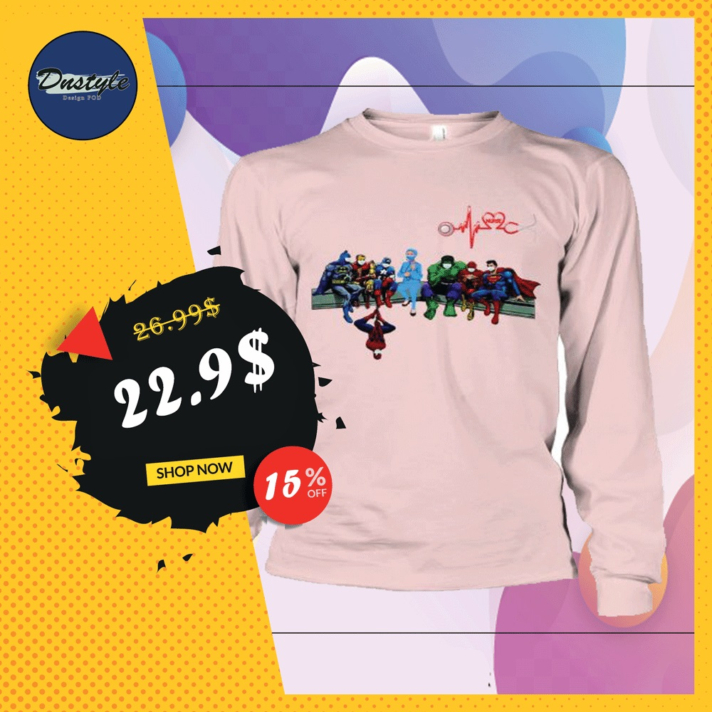 Marvel and DC comic heroes and nurse wear mask long sleeved