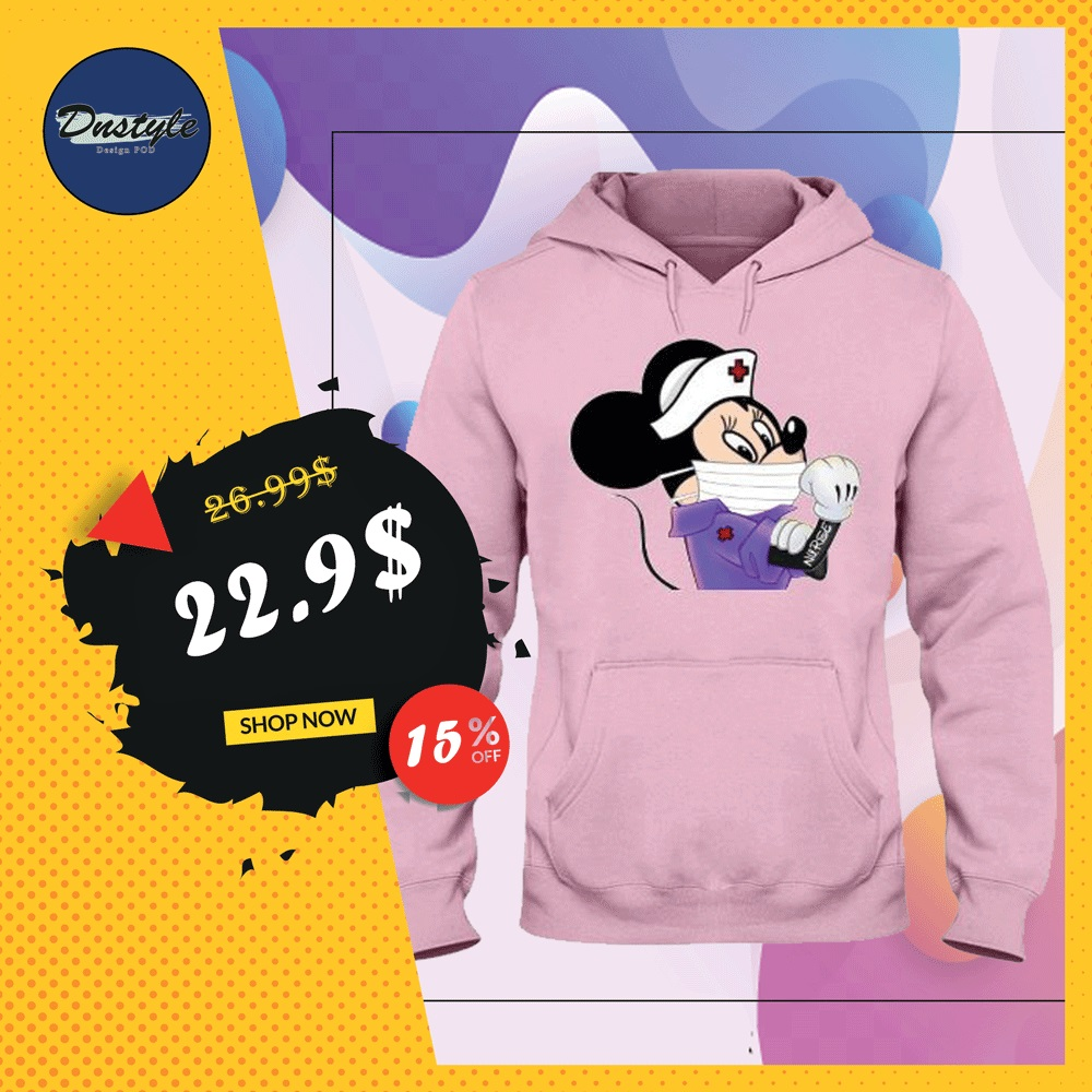 Minnie Mouse nurse stay strong hoodie