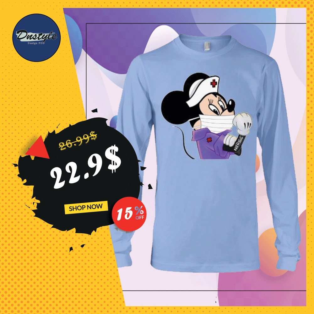 Minnie Mouse nurse stay strong long sleeved