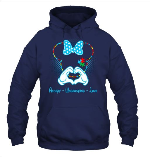 Minnie mouse autism awareness accept understand love hoodie