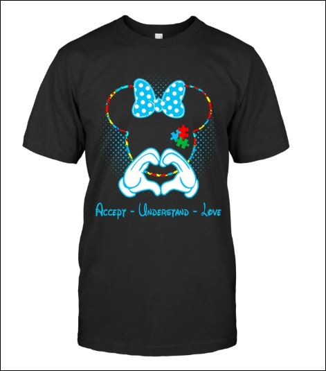 Minnie mouse autism awareness accept understand love shirt