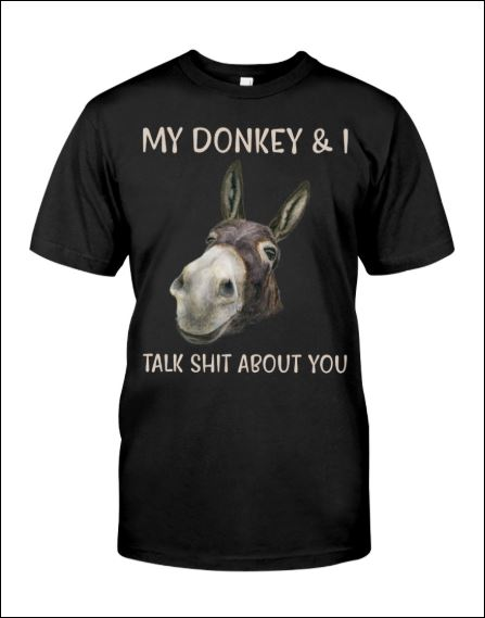 My donkey and i talk shit about you shirt