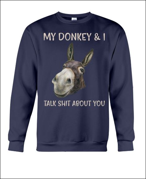 My donkey and i talk shit about you sweater