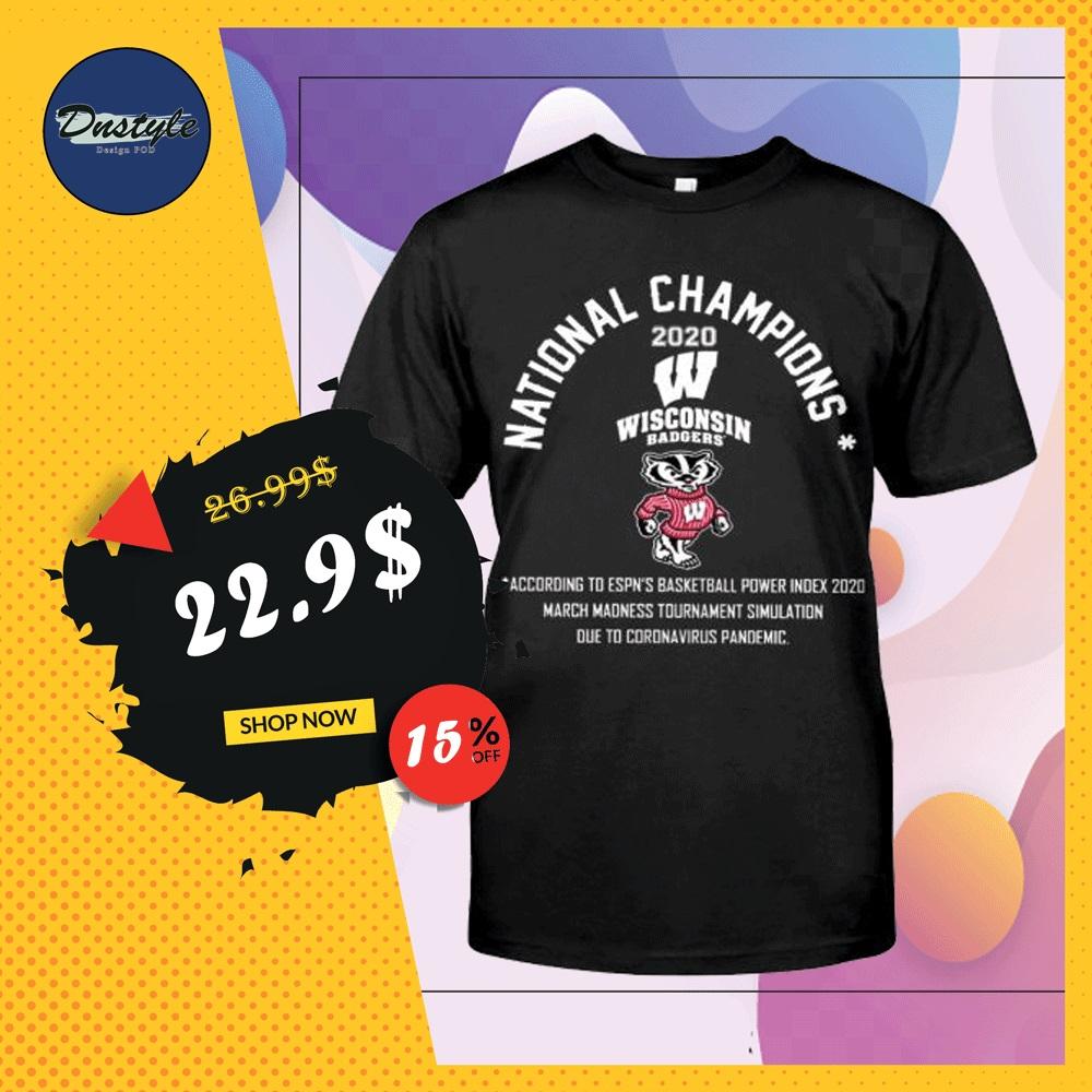National champions 2020 Wisconsin Badgers mascot shirt