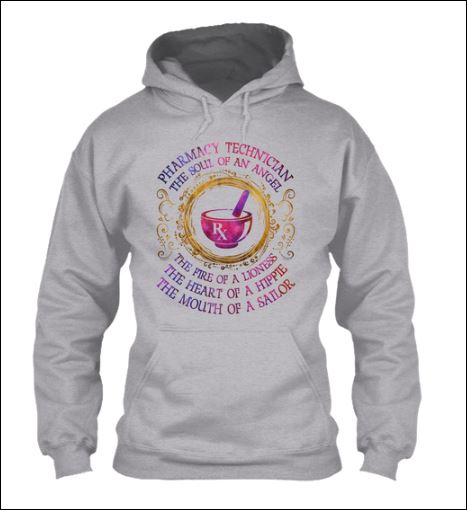 Pharmacy technician the soul of angel hoodie