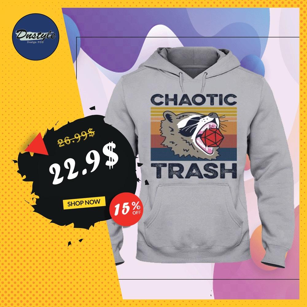 Raccoon chaotic trash vintage hoodie