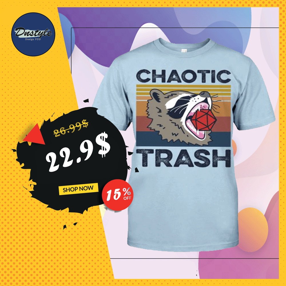 Raccoon chaotic trash vintage shirt