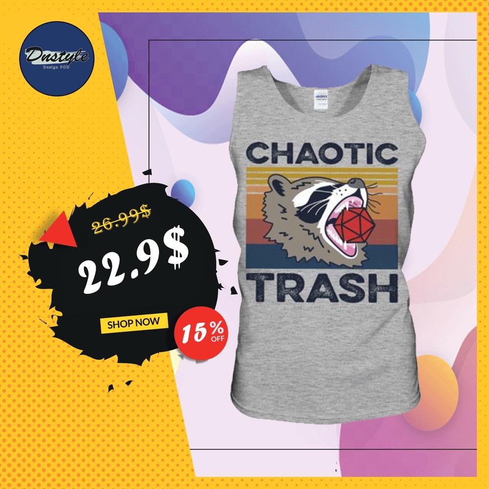 Raccoon chaotic trash vintage tank top