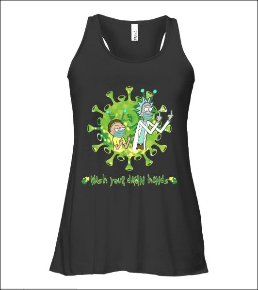 Rick and Morty wash your damn hands tank top