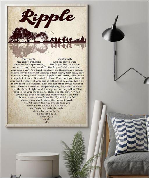 Ripple lyric poster