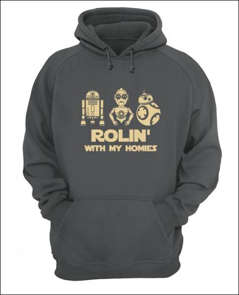 Robot rolin with my homies hoodie