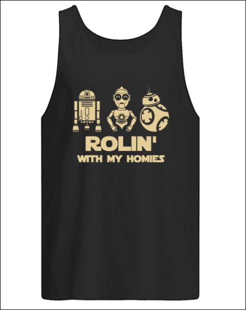 Robot rolin with my homies tank top