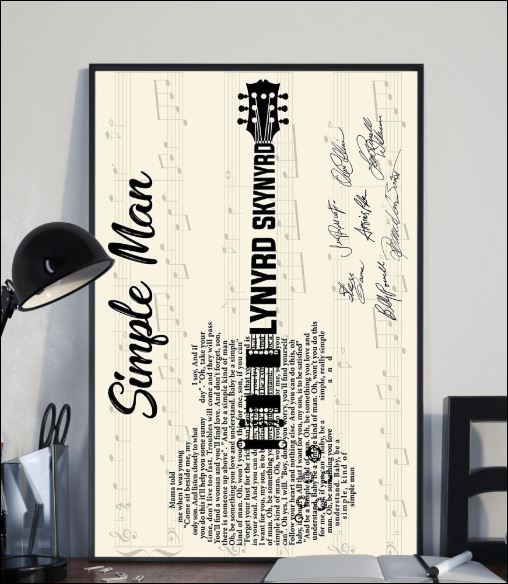 Single man Lynyrd Skynyrd signatures poster